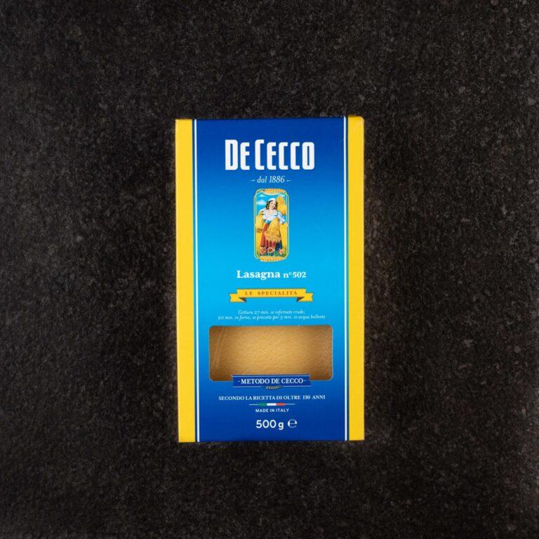 λαζανια No502 500GR DE CECCO
